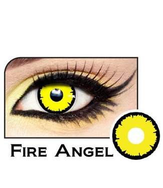 Fine And Clear Fire Angel Contact Lenses
