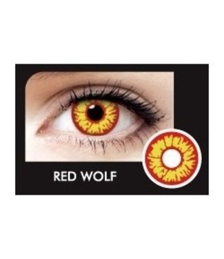 Fine And Clear Red Wolf Contact Lenses (C2)
