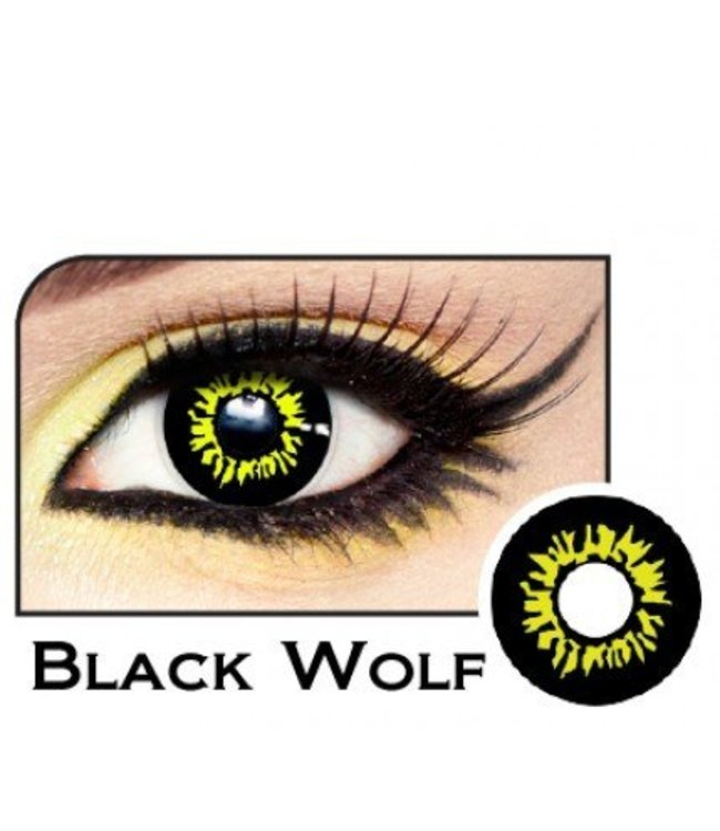 Fine And Clear Black Wolf Contact Lenses (C2)