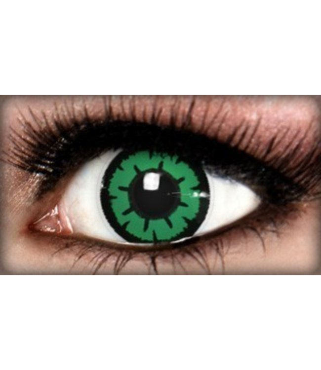 Fine And Clear Temptress Green Contact Lenses (C2)