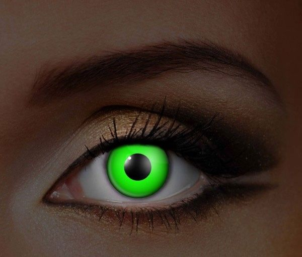 Fine And Clear Glow in the Dark Green Contact Lenses (C2 ...