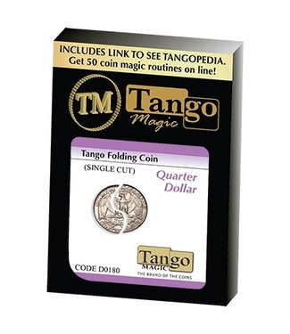 Folding Coin Quarter Dollar Traditional Single Cut (D0180) by Tango (M10)