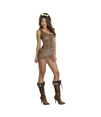 Dreamgirl Cave Girl Starter Dress - Adult Small by Dreamgirl