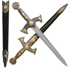 Knights Templar Dagger and Scabbard (M1)