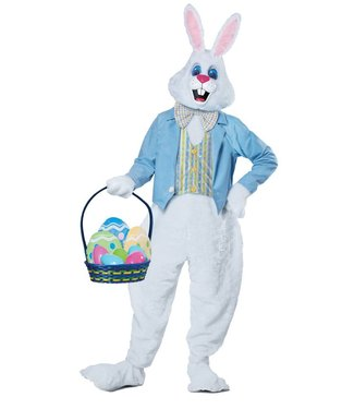 Deluxe Easter Bunny, Blue Jacket- Adult Sm/Med by California Costumes