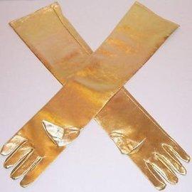Gloves Gold Shoulder Length Lame'