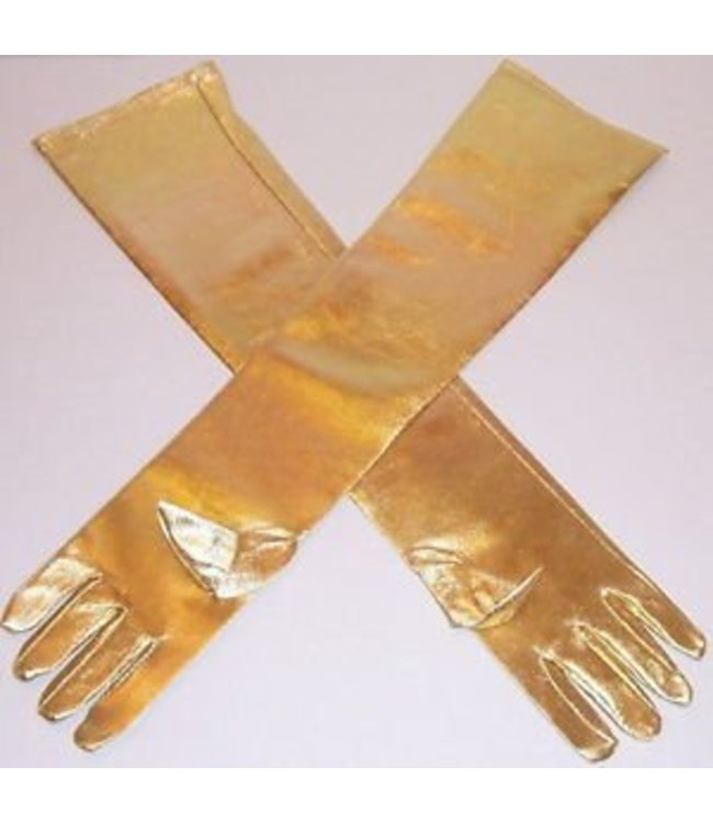 Gloves Gold Shoulder Length Lame'
