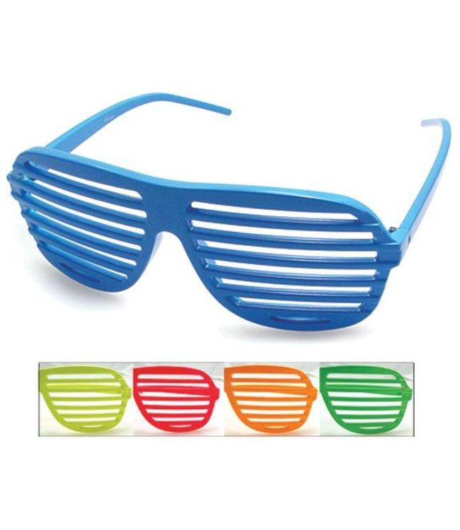 Aviator Blinds Neon Sunglasses Pink