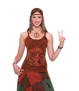 Forum Novelties Hippie - Peace Sign Tank Top
