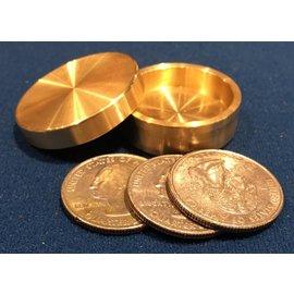 Ronjo Sleek Okito Box Quarter 3 Coin, Beveled by Ronjo