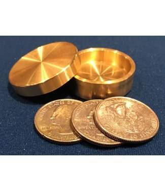 Ronjo Sleek Okito Box Quarter 3 Coin, Beveled by Ronjo