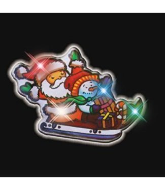 Santas Sled Flashing Pin
