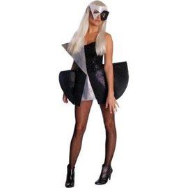 Rubies Costume Company Lady Gaga Black Sequin Dress- Adult Standard