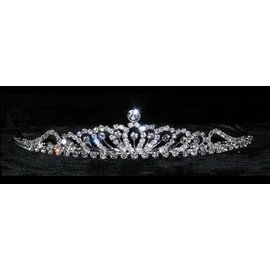 Dainty Piston Burst Tiara - 1.5 Inches Tall