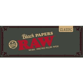 Raw RAW Rolling Papers Classic Black 1 1/4 inch Size