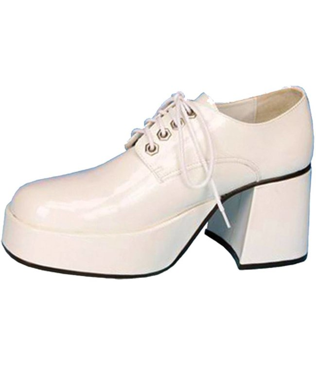 Jazz Platform Shoes - White, Large 12-13 by Pleaser USA