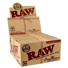 Raw Connoisseur Classic King Size Slim Rolling Papers plus Tips by Raw