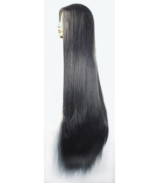 Morris Costumes and Lacey Fashions 1448 40 inch No Bangs, Black Wig