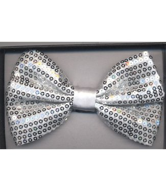 Bow Tie Sequin, Silver - Boxed