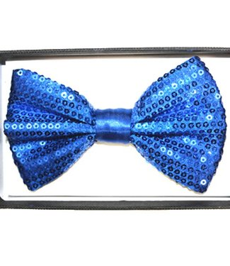 Bow Tie Sequin, Blue - Boxed