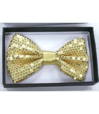 Bow Tie Sequin, Gold - Boxed