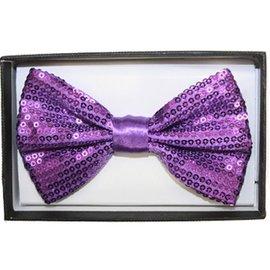 Bow Tie Sequin, Purple - Boxed