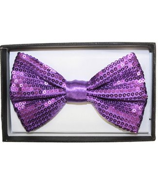 Bow Tie Sequin, Purple - Boxed