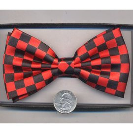 Bow Tie Checker, Red/Black - Boxed
