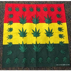 Bandana Rasta Colors with Green Leaf