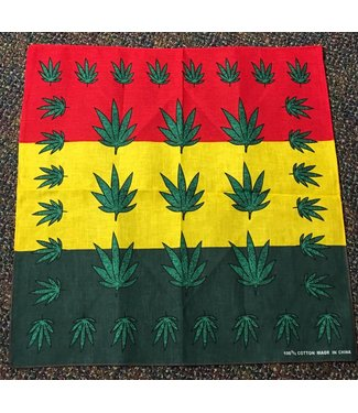 Bandana Rasta Colors with Green Leaf