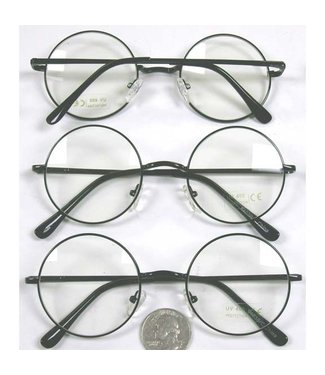 Sunglasses Round Black Frame - Harry Potter Style