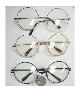 Sunglasses Large Round Metal Frame - Assorted Colors