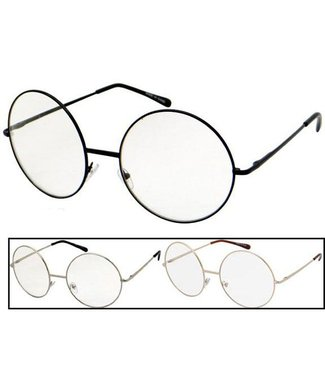Sunglasses XXL Round Metal Frame - Assorted Colors