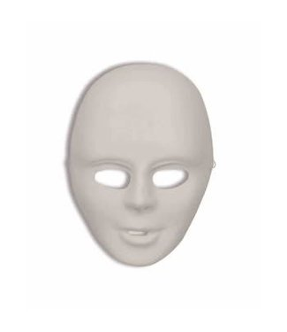 Forum Novelties Economy Do It Yourself Costume Mask - White