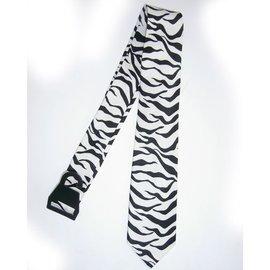 Necktie Zebra Black/White by american passion