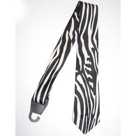 Necktie Zebra, Vertical Print Black/White by american passion