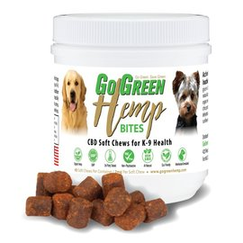 Go Green Hemp CBD Dog Soft Chew Bites by Go Green Hemp