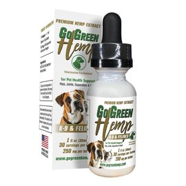 Go Green Hemp CBD Dog and Cat Tincture Oil Drops 250mg by Go Green Hemp