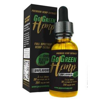 Go Green Hemp CBD Oil Tincture Unflavored 250mg by Go Green Hemp