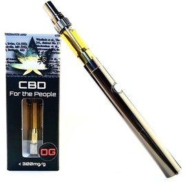 CBD For The People CBD Cartridge, Wax 300mg Super Lemon Haze, Hybrid CBD For The People