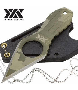 Knife, Neck - Survival Fixed Blade Camo Grenade Style Handle by Day Zero