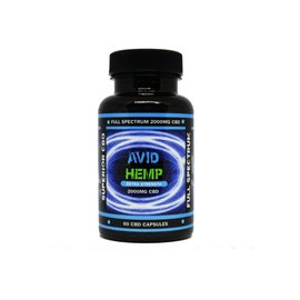 Avid Hemp CBD CBD Capsules 60ct 2000mg by Avid Hemp