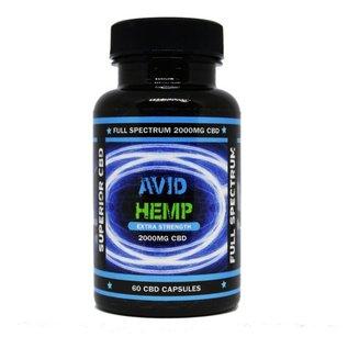 Avid Hemp CBD CBD Capsules 60ct 2000mg by Avid Hemp