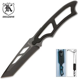 Budk Knife - Concealed Tactical Warrior Tanto Neck Knife with Lanyard And Sheath by Budk