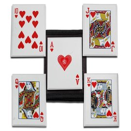 Knife - Throwing Cards Hearts Royal Flush, 5 Pc. Set