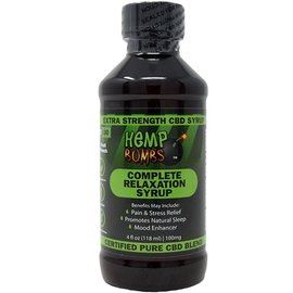 Hemp Bombs CBD Relaxation Syrup 100mg 4oz by Hemp Bombs