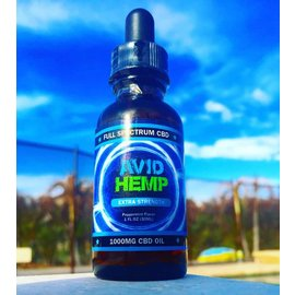 Avid Hemp CBD CBD Oil Tincture Peppermint Flavor 1000mg/34mg/30 by Avid Hemp