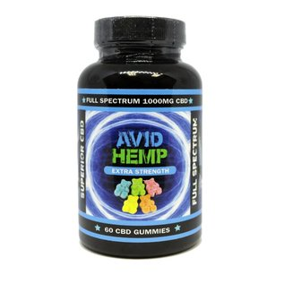 Avid Hemp CBD CBD Gummies Extra Strength 60ct 1000mg by Avid Hemp
