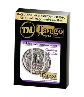 Folding Coin Quarter Traditional, D0021 by Tango Magic (M10)