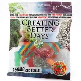 Creating Better Days CBD Sour Gummies Variety Pack 300mg Pack 15mg each by Creating Better Days